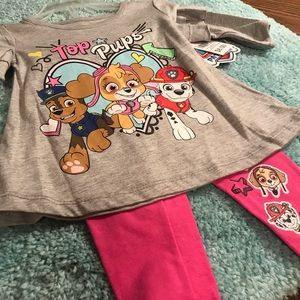 NWT- Nickelodeon- Paw Patrol 12-months. Two piece